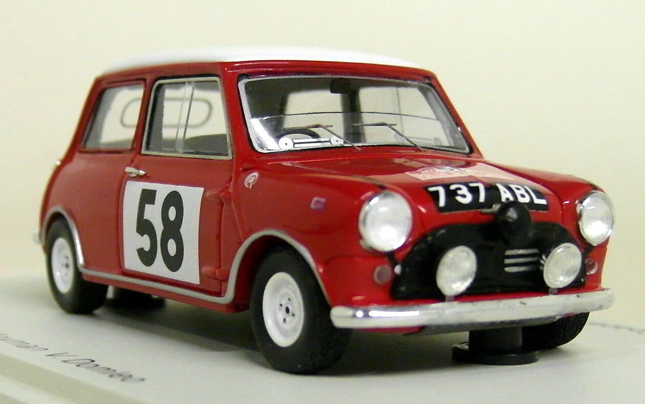 Spark 1 43 Scale S1189 Morris Mini Cooper Monte  voiturelo Rally 1963 Resin Model voiture  moins cher
