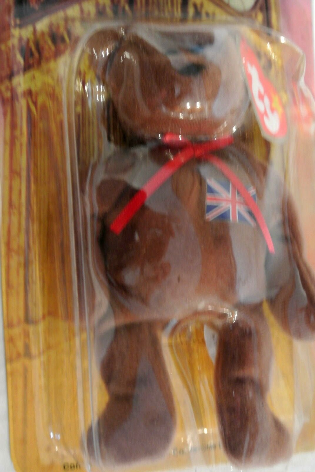 1999 TY Britannia The Bear Bear Bear Plush Beanie Baby Retired with Errors New 575650