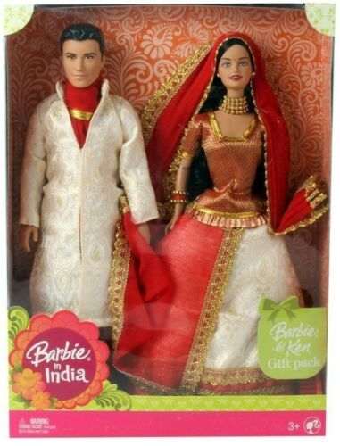 Color May Vary Indian Barbie /& Ken India  Mattel Indian Rakhi Special Gift