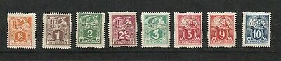 1922 Freimarken Handwerker 32-39a *, Feines Handwerk Estland 26895
