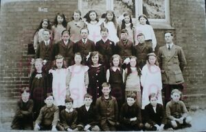 PRINT-10-034-X-7-034-ASHFORD-HILL-SCHOOL-GROUP-c1917-HAMPSHIRE