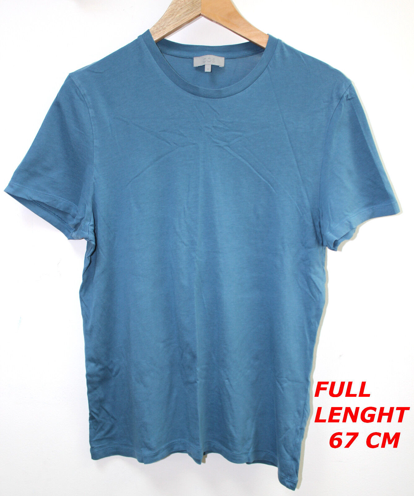 COS Blau Farbe  LADIES WOMAN TOP BLOUSE SHORT SLEEVE MARKED Größe M H 67 CM
