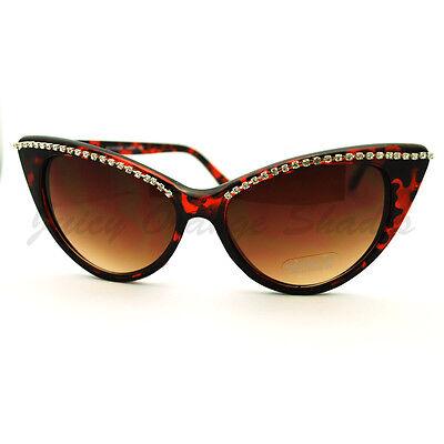 Womens Fashion Sunglasses Super Cateye Rhinestone Top Hot Design