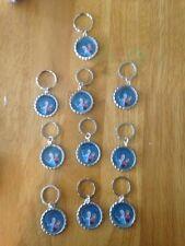 FROZEN Disney Cruise Line 10 Disney Bottle Cap Key Chains  Fe Gifts/BIRTHDAY