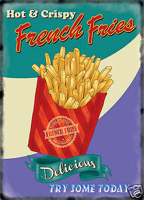 retro vintage style metal sign//plaque man cave shed Kitchen French Fries