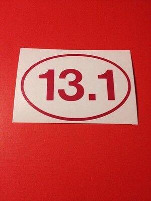 13.1 Pink Vinyl Die Cut Decal,half Marathon,run,window,car,truck,laptop,iPad