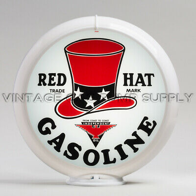 """US only G107 Atlantic 13.5/"""" Gas Pump Globe w// Red Plastic Body FREE SHIPPING"""