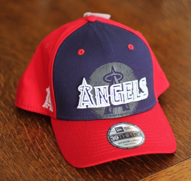 Oakley Los Angeles Anaheim Angels Navy Red Baseball Hat Cap Mens Size M L - 7dddfe0477f4