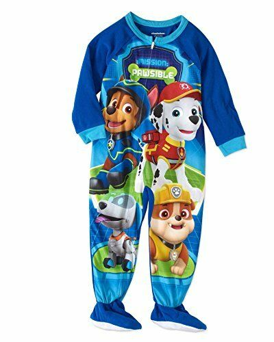 Paw Patrol Crew and Robo-Dog Toddler Boy/'s Fleece Footed Blanket Pajama Sleeper