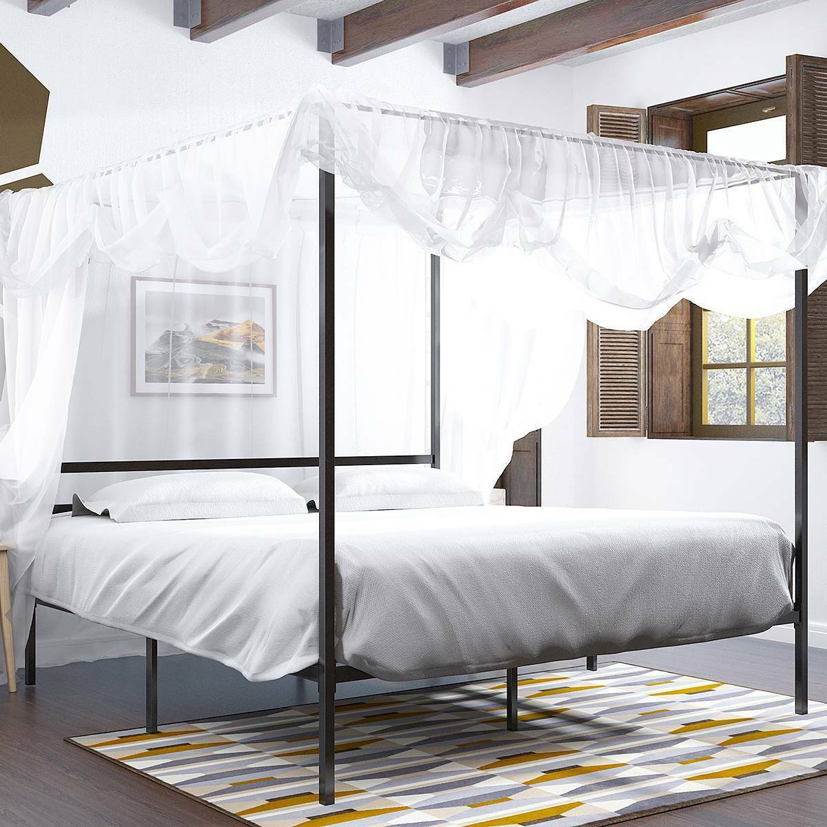 Wrought Iron King Size Canopy Bed For Sale Online Ebay