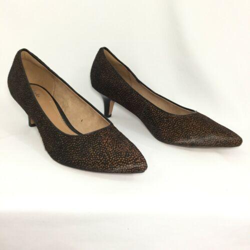 Clarks Artisan Womens Pump Size 10M Black Brown Dy