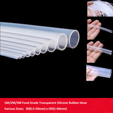 Transparent Silicone Rig Tube Clear Food Safe High Temp Pipe Hose Line Coolant