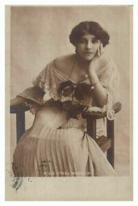 Antique-printed-postcard-Miss-Ethel-Warwick-actress-theatre-stage