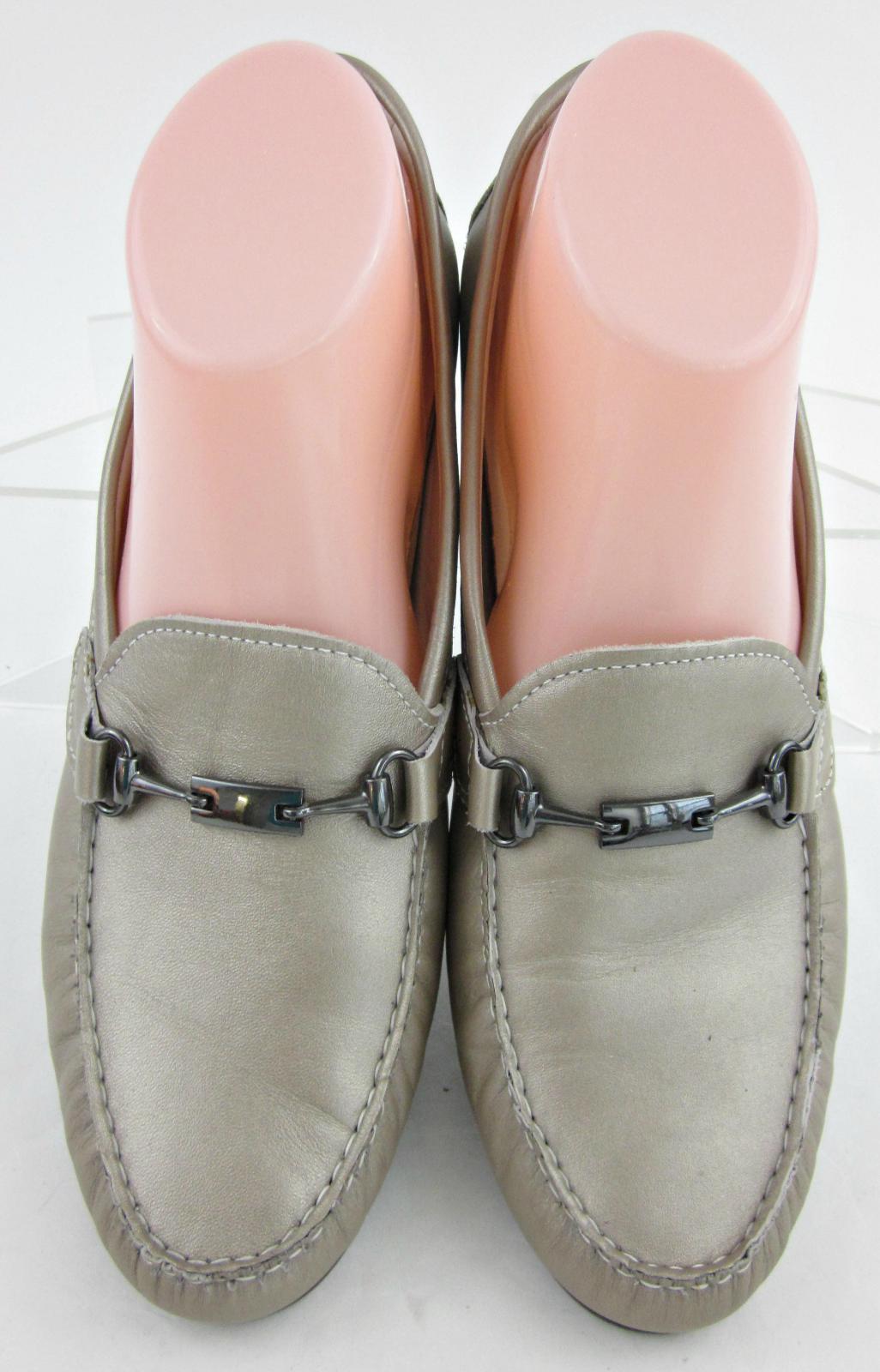 Munro Munro Munro American 'KIMI' Moc Toe Bit Loafers Taupe Metallic Leather US 10.5 7dc1ed
