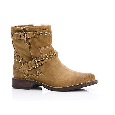 UGG Australia Fabrizia chestnut Damen Stiefelette Biker Boots  NEU*