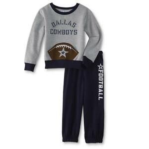 new york 1019c 2d333 Details about Dallas Cowboys NFL Toddler Boys' Sweatshirt & Sweatpants Size  4T - New With Tag