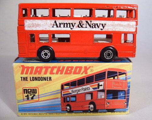 Matchbox SF Nr.17B The Londoner  Army & Navy