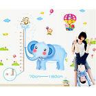 Elephant Height Stickers Removable Wall Sticker Kids Nursery Decor Vinyl Decal