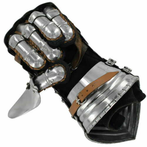 Armored Medieval Polished Knights Renaissance Templar Armored Gauntlets Gift