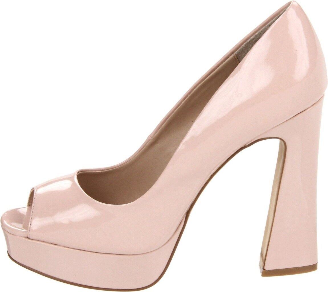 Zapatos magnífico Mujer Fergie magnífico Zapatos Retro plataforma Peeptoe Grueso Tacones Luz Rosa 1f318b