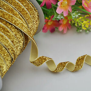 10y-Gold-Metallic-Glitter-ribbon-Wedding-Party-Supply-Decoration-DIY-Crafts