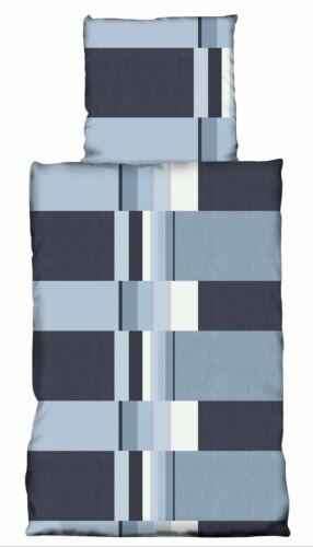 2 tlg Teddy Plüsch Bettwäsche 155x220 cm Gestreift anthrazit Thermofleece Set