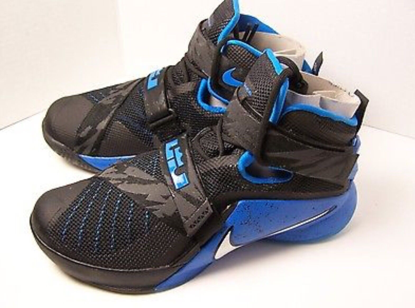Nike Lebron Soldier 9 IX PRM Black bluee size 12 men's NEW
