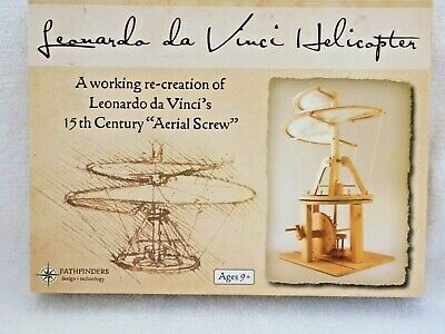 Pathfinders Leonardo da Vinci Aerial Screw Helicopter Working Wood Model Kit