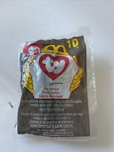 1998 TY Beanie Babies McDonald's Happy Meal Toy #10 Zip The Cat NIP