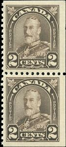 Mint-NH-Canada-BKLT-PAIR-1931-F-VF-Scott-166as-King-George-V-Arch-Leaf-Stamps