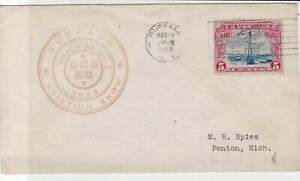 united states 1929 air mail flight stamps cover ref 20044