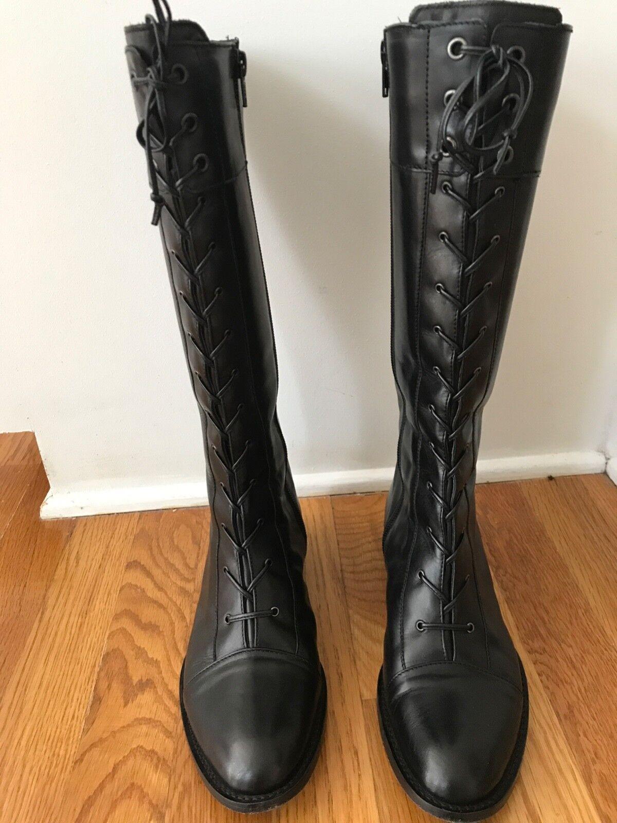 Via Spiga Spiga Spiga  Reverie Black Carez  Black Boots Size 6.5 63f1fc