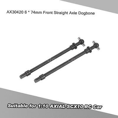 2Pcs AX30420 Front Straight Axle Dogbone 6 * 74mm for AXIAL SCX10 RC Car G5N1