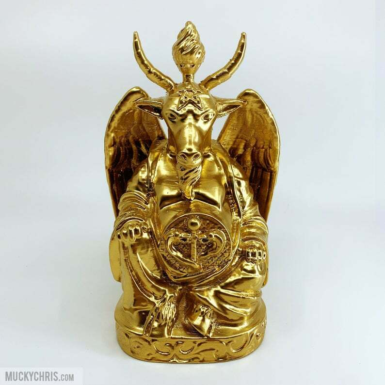 Baphomet Buddha   Brilliant Gold