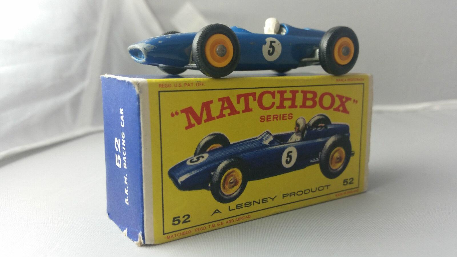 MATCHBOX   52B B.R.M. British Racing Motors voiture de course Bleu   5  bpt boxed (D2)