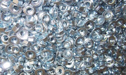M7-1.0  Metric Serrated Flange Lock Nut Steel Zinc Plated 75pc