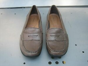 a7071f2ddd3 G.H. BASS ANTONIETTE GRAY BROWN SOFT LEATHER PENNY LOAFERS WOMEN S ...