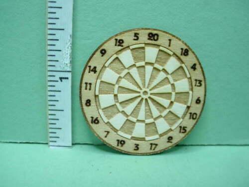 Miniature Dart Board Laser Cut Wood Dragon/'s Mate 1//12th Scale