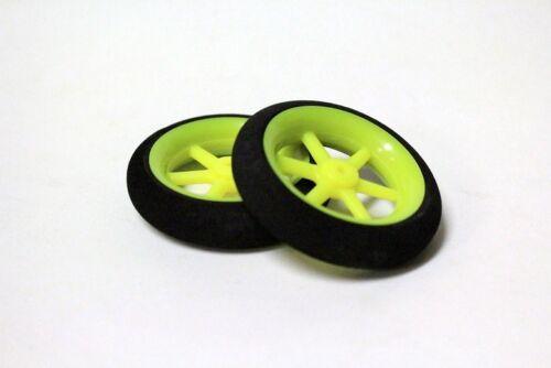 """2pcs 1.23/"""" Super Light Weight Foam Wheel for RC planes Landing Gear green"""