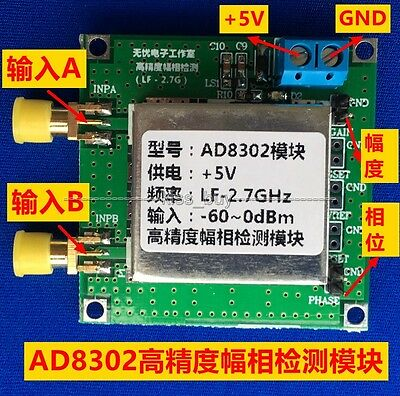 AD8302 Amplitude Phase RF Detector Module RF/IF  2.7GHz 14TSSOP Phase Detection
