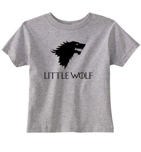 "Game Of Thrones /""Little Wolf/"" House Stark Unisex Toddler T-Shirt"