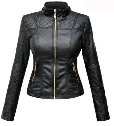 Women/'s Lambskin Genuine Leather Motorcycle Slim Fit Designer Biker Jacket