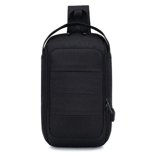 Men Women Chest Bag Casual Shoulder Crossbody Bag USB Charging Chest Pack Male