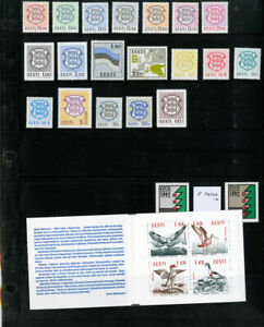 Estonia-All-Mint-NH-High-Value-Modern-Stamp-Collection