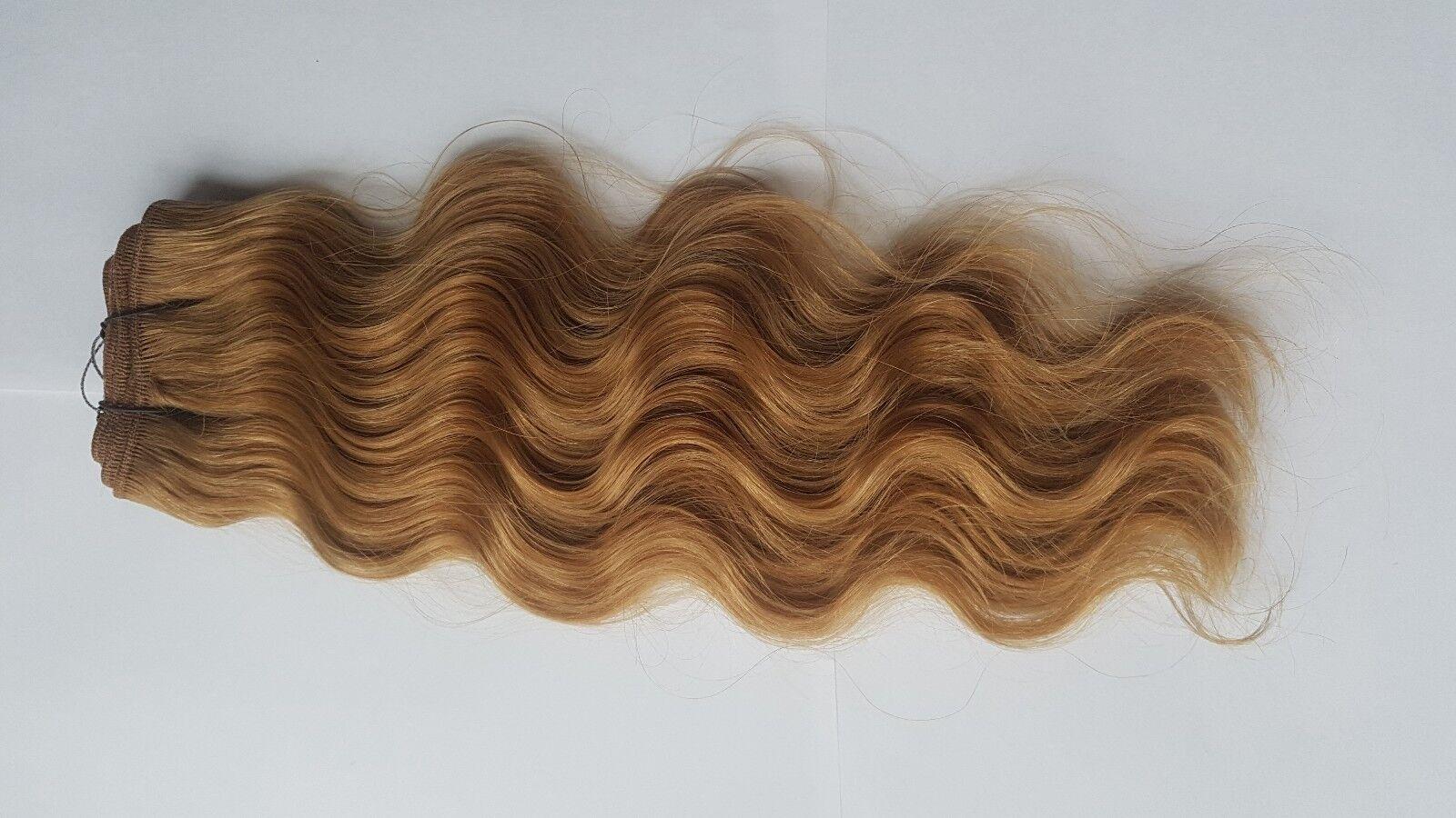 I capelli umani radicazione Reborn bambini Toddlers Loose Curl 100g bionda non Mohair