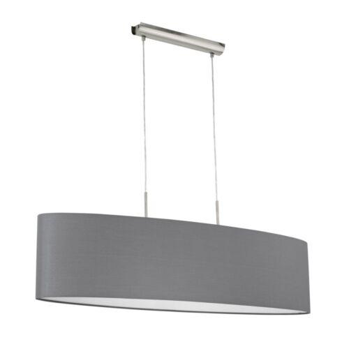 Schirm Hängeleuchte Pendellampe Esszimmer Lampen Wohn Zimmer Leuchten Stoff grau