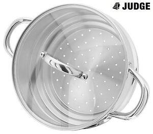 Judge-ACERO-INOXIDABLE-16-18-ro-20cm-vaporizador-Insercion-con-cristal-tapa
