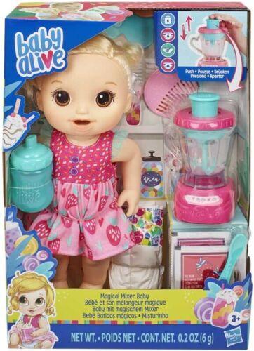 Baby Alive magique mixeur bébé blond Fraise Shake Blender Accessoires blonde