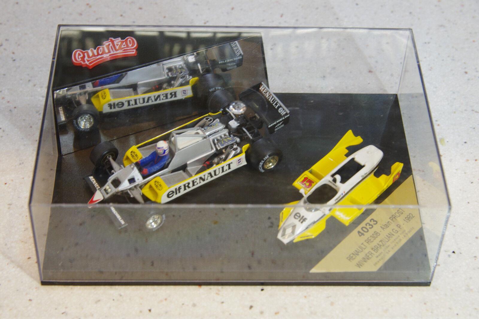 Quartzo 1 43 RE30B Gran Premio brasileño ganador Alain Prost 4033 cuerpo de despegue