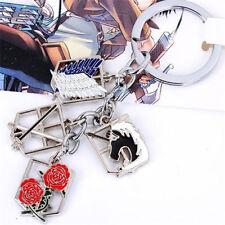 Anime ATTACK ON TITAN Shingeki no Kyojin Multi Badges Charm Keyring Keychain *